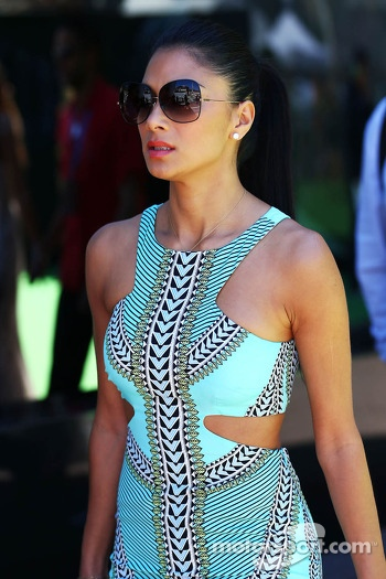 Nicole Scherzinger, Singer and girlfriend of Lewis Hamilton, Mercedes AMG F1