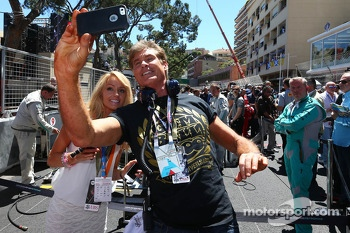 David Hasselhoff, Actor with his girlfriend Hayley Roberts on the grid