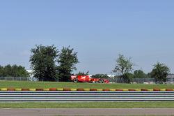 Kamui Kobayashi testing a Ferrari F10