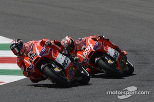 Nicky Hayden, Ducati Team and Andrea Dovizioso, Ducati Team