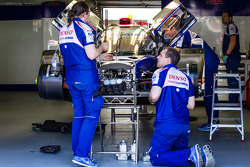 Toyota Racing team members at work