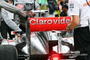 Jenson Button, McLaren MP4-28 rear wing