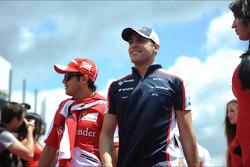 Felipe Massa and Pastor Maldonado