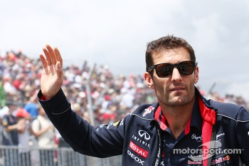 Mark Webber, Red Bull Racing on the drivers parade
