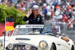 Nico Rosberg, Mercedes AMG F1 on the drivers parade