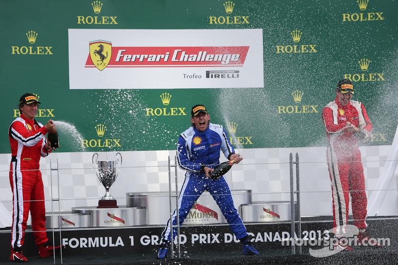 Coppa Shell podium: winner Henrik Hedman, second place Ugo Colombo, third place Marc Muzzo