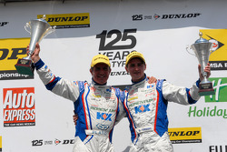 MG Duo Jason Plato and Sam Tordoff celebrate their 1-2 in Round 10