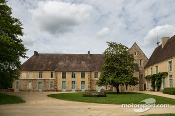 Abbaye de l'Epau hosting the race poster exhibit
