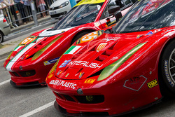 #55 AF Corse Ferrari F458 Italia: Piergiuseppe Perazzini, Darryl O'Young, Lorenzo Case; #61 AF Corse Ferrari F458 Italia: Jack Gerber, Matt Griffin, Marco Cioci