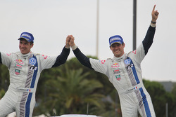 Winners Sébastien Ogier and Julien Ingrassia, Volkswagen Polo WRC, Volkswagen Motorsport