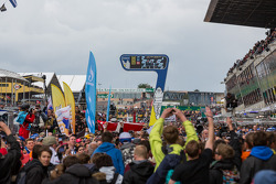 Sea of humanity to watch the podium ceremony