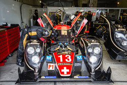 #13 Rebellion Racing Lola B12/60 Coupe Toyota in the garage