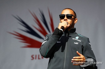 Lewis Hamilton Mercedes AMG F1 at the post race concert
