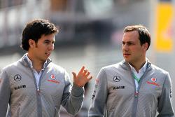 Sergio Perez, McLaren Mercedes and Gary Paffett, Test Driver, McLaren Mercedes