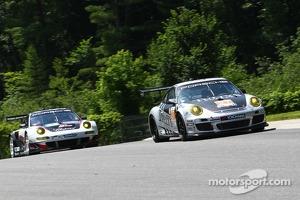 #27 Dempsey Del Piero Racing Porsche 911 GT3 Cup: Patrick Dempsey, Andy Lally -#48 Paul Miller Racing Porsche 911 GT3 RSR: Bryce Miller, Marco  Holzer