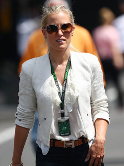 Jennifer Becks, girlfriend of Adrian Sutil, Sahara Force India F1
