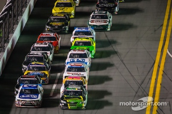 Austin Dillon and Matt Kenseth battle for the lead