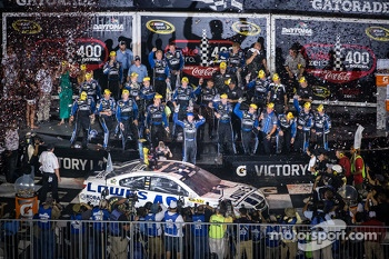Victory lane race winner Jimmie Johnson, Hendrick Motorsports Chevrolet celebrates