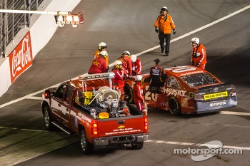 Matt Kenseth, Joe Gibbs Racing Toyota after the crash