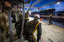 Rebellion Racing team members ready for a pit stop