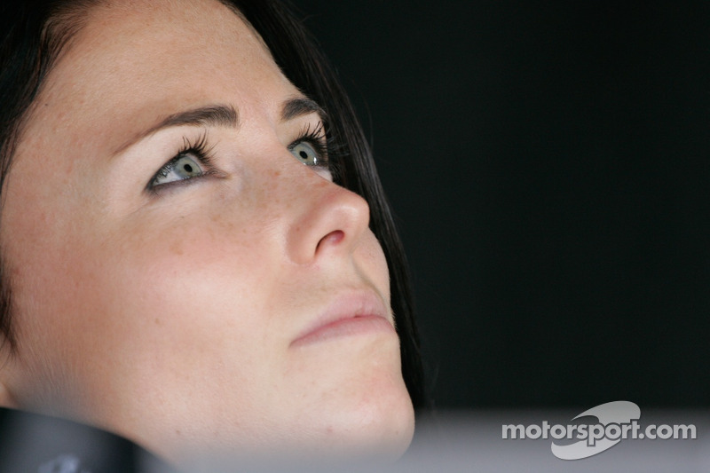Kristen Dee, girlfriend of James Hinchcliffe, Andretti Autosport Chevrolet