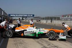 James Calado, Sahara Force India VJM06 Test Driver in the pits
