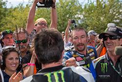 Josh Hayes congratulating Josh Herrin on race victory