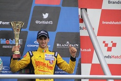 International podium: third place Antonio Giovinazzi