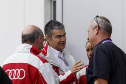 Dr. Wolfgang Ullrich, Audi's Head of Sport, Dieter Gass, Race Director DTM