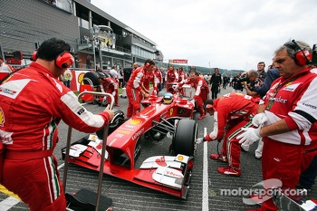 Fernando Alonso, Ferrari on the grid