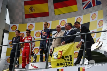 Greenpeace protest on the podium