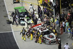 Denny Hamlin, Joe Gibbs Racing Toyota and Kevin Harvick, Richard Childress Racing Chevrolet