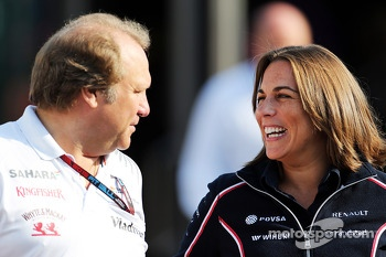 Robert Fernley, Sahara Force India F1 Team Deputy Team Principal with Claire Williams, Williams Deputy Team Principal