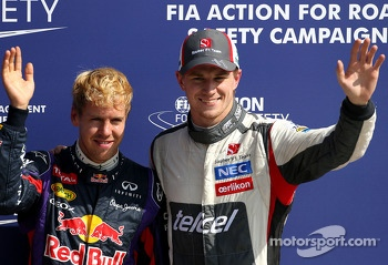 Sebastian Vettel, Red Bull Racing and Nico Hulkenberg, Sauber F1 Team Formula One team  07