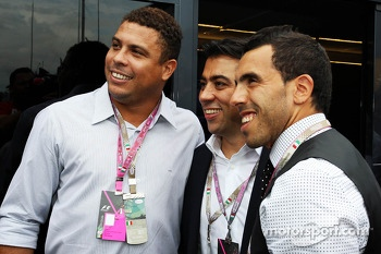 Ronaldo, Former Football Player, with Carlos Tevez, Juventus FC Football Player