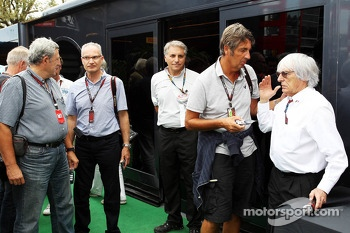 Bernie Ecclestone, CEO Formula One Group, with Jean-Francois Galeron