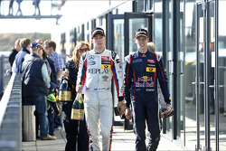 Race winner Daniil Kvyat, third place Alex Lynn