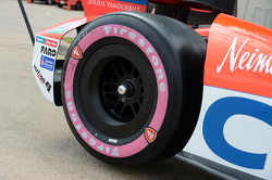 Pink side walled Firestone tires