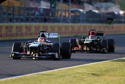 Nico Hulkenberg, Sauber F1 Team Formula One team and Kimi Raikkonen, Lotus F1 Team