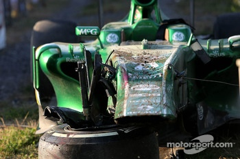 Car of Giedo van der Garde, Caterham F1 Team