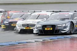 Filipe Albuquerque, Audi Sport Team Rosberg Audi RS 5 DTM, Pascal Wehrlein, Mercedes AMG DTM-Team Mücke DTM Mercedes AMG C-Coupe, Jamie Green, Audi Sport Team Abt Sportsline Audi RS 5 DTM