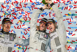 GTC podium: champagne for Joe Foster, Patrick Dempsey and Andy Lally