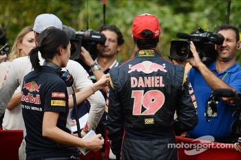 Daniel Ricciardo, Scuderia Toro Rosso with the media