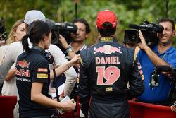 Daniel Ricciardo, Scuderia Toro Rosso with the media
