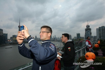 Launch WTCC Shanghai, Fredy Barth, BMW 320 TC, Wiechers-Sport