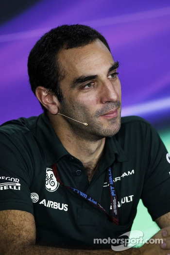Cyril Abiteboul, Caterham F1 Team Principal in the FIA Press Conference