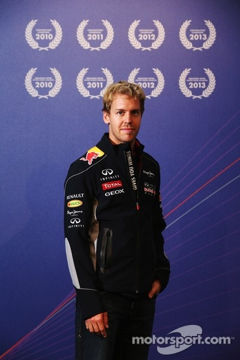 2013 World Champion Sebastian Vettel visits Red Bull Racing factory and headquarters in Milton Keynes
