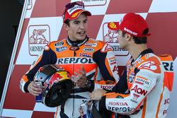 Polesitter Marc Marquez, Repsol Honda Team with Dani Pedrosa