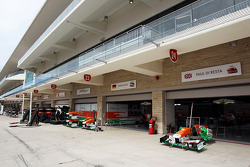 The Sahara Force India F1 Team pit garages