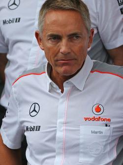 Martin Whitmarsh, McLaren Chief Executive Officer at a team photograph